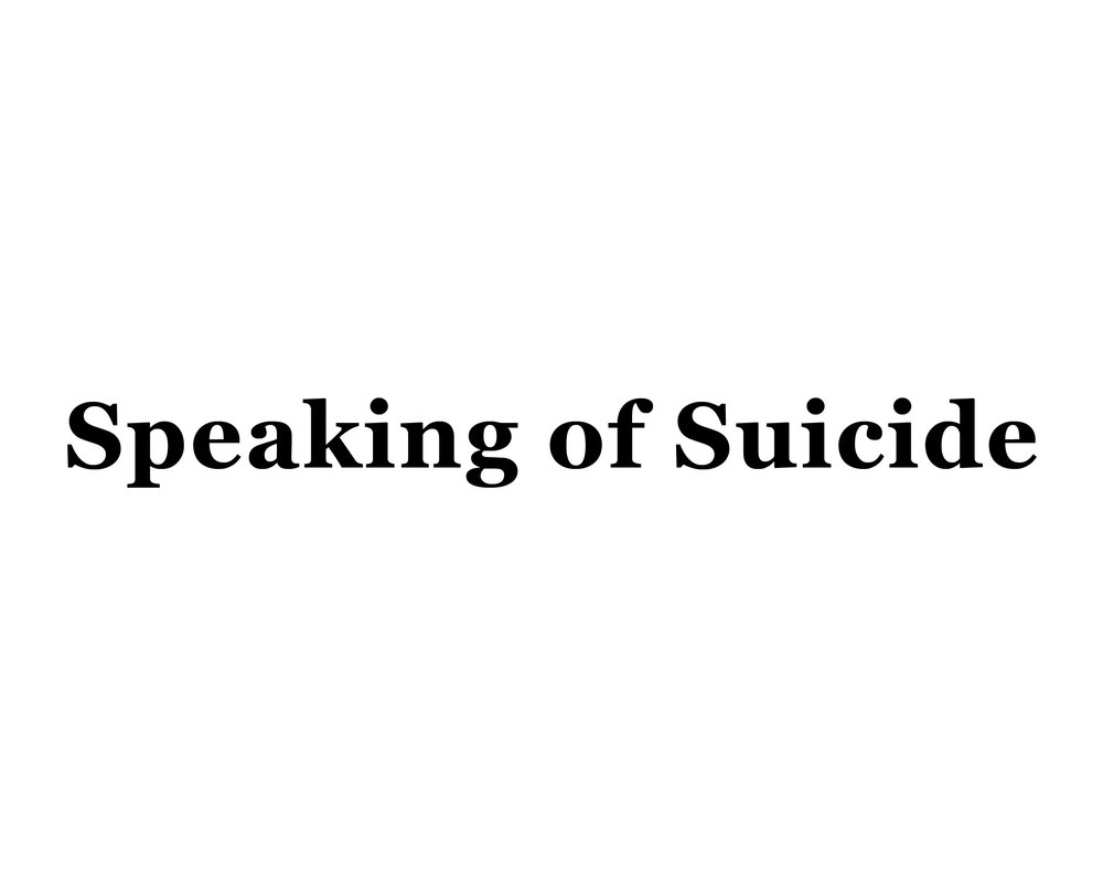 SPEAKING OF SUICIDE - A site for suicidal individuals and their loved ones, survivors, mental health professionals, and others who care.