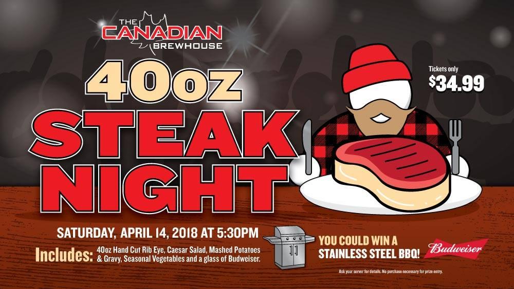 40oz steak night brewhouse