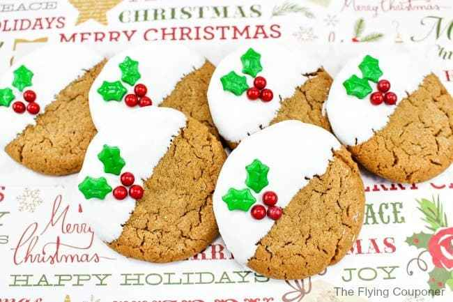 Gingerbread Holly Cookies