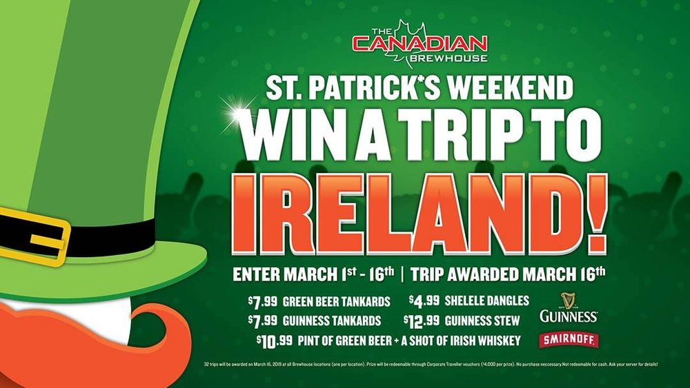 St. Paddy's Day Weekend Fun - Have you ever wanted to go to Ireland? For all the details, click this photo >>>