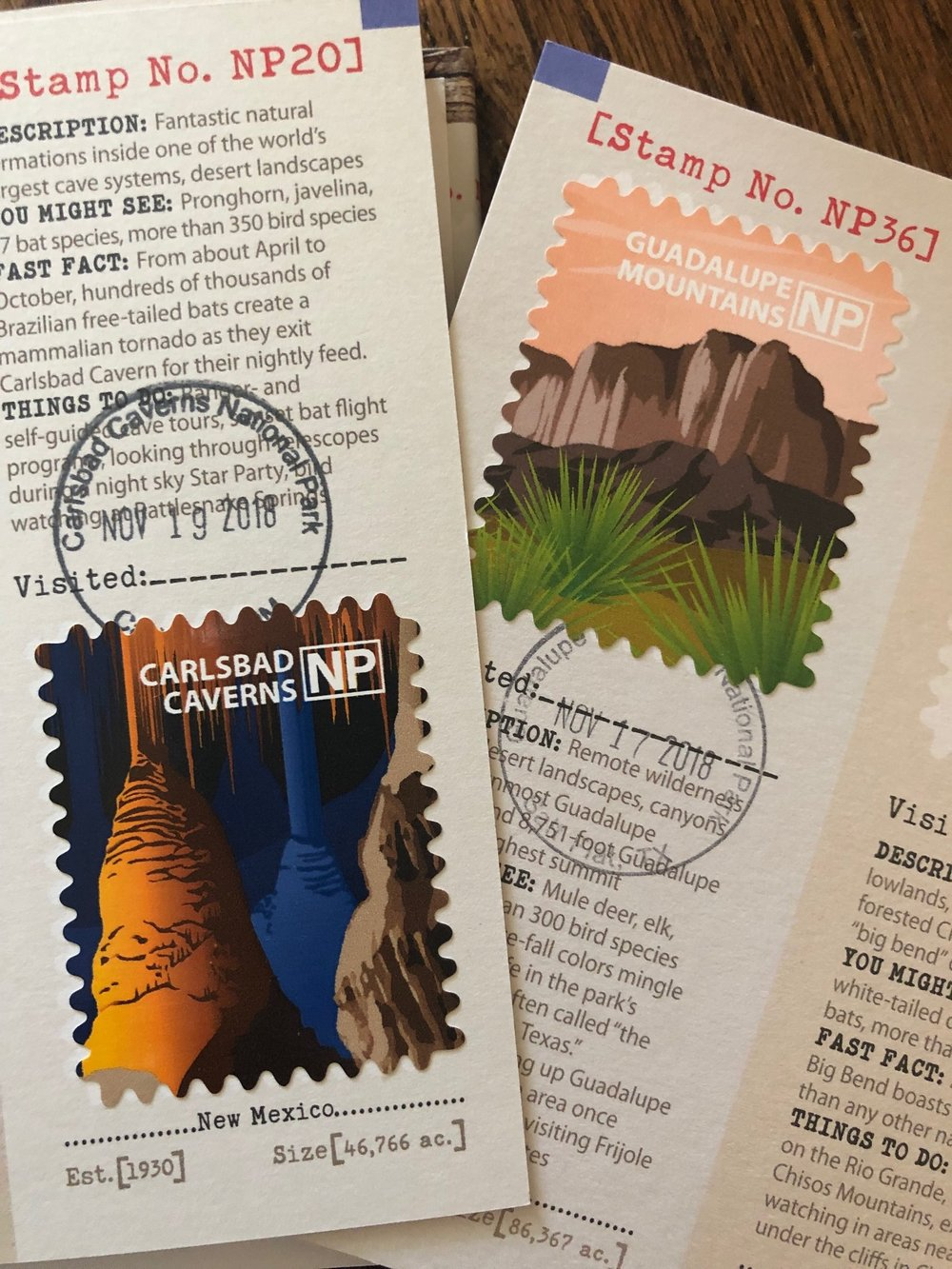 The boys prized stamps from our tmost recent trip