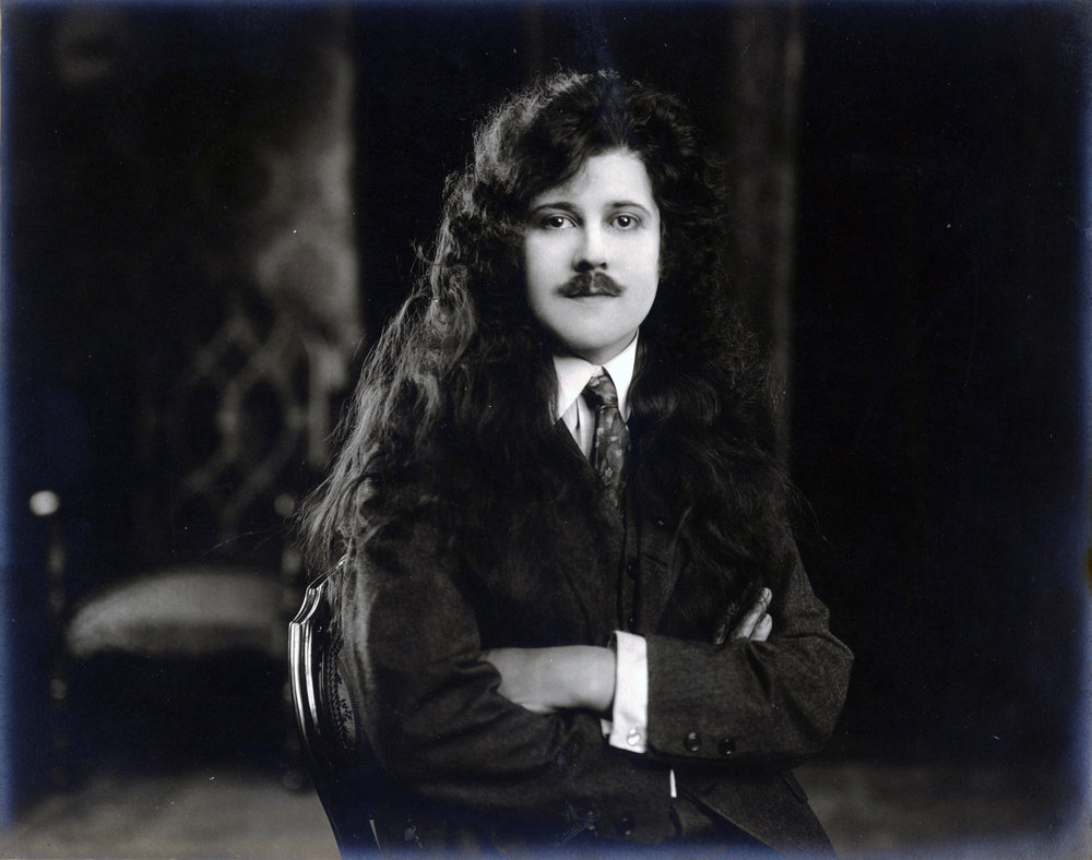 Fig. 3. Leah Baird in one of her disguises. Photos from the collection of the Fort Lee Film Commission.