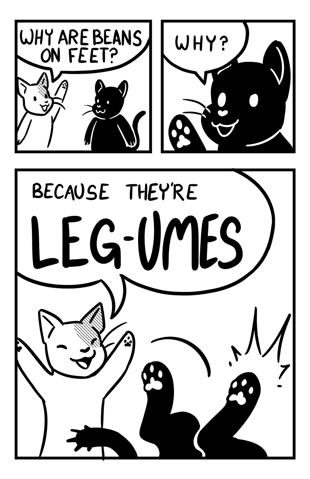 """Single-page comic from """"Bean Zine"""""""