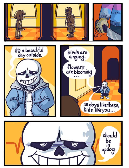 """""""updog""""  Personal comic, 2016"""