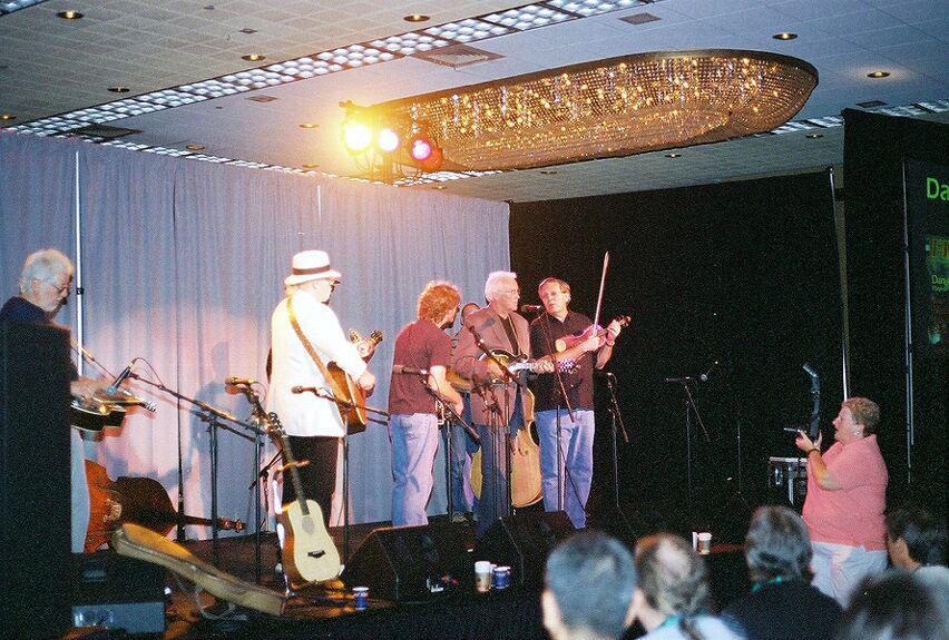 IBMA Nashville 2008  (left to right) Curtis Burch, Dan Crary, Sam Bush, Danny Jones, Chuck Nation