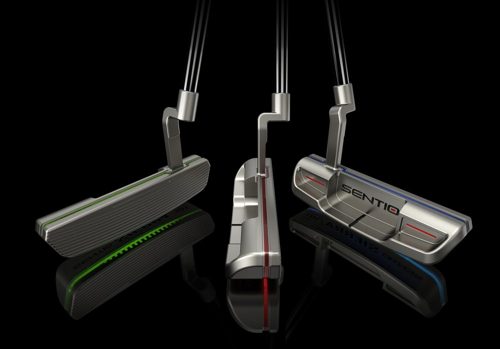 The Sierra 101 line of putters, featuring a patented floating face construction.