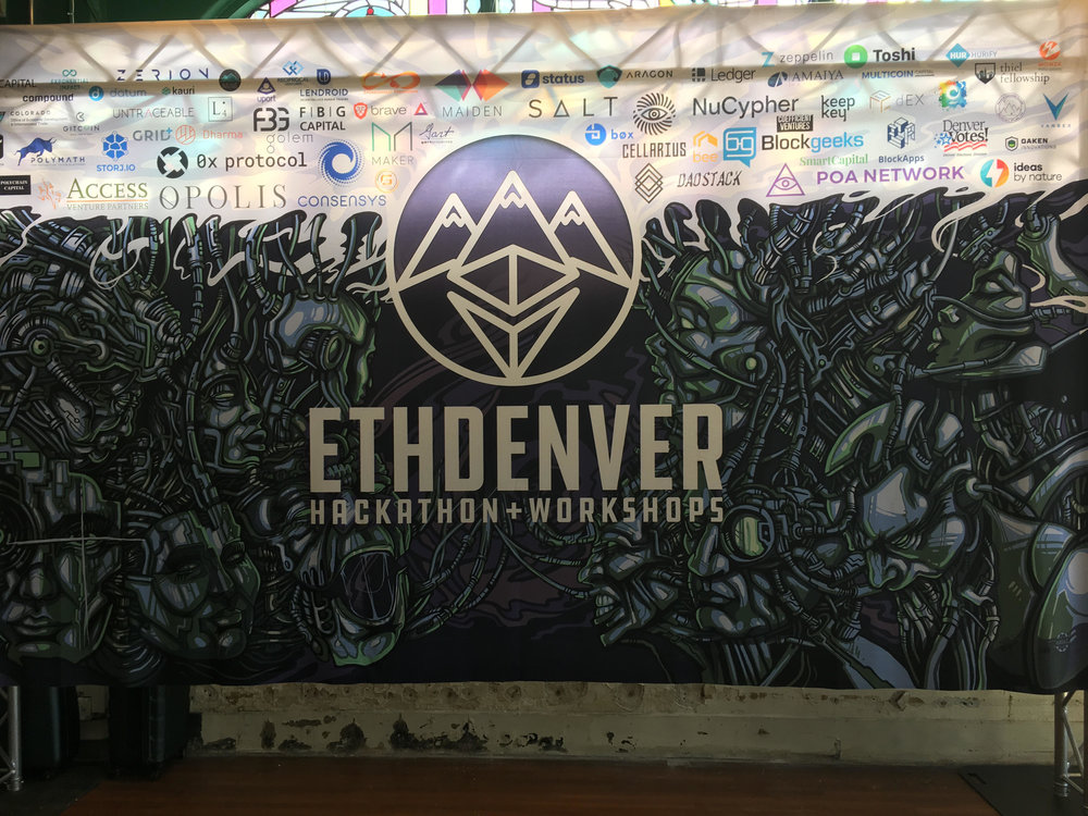 Figure 1. ETHDenver Hackathon, February 16 - 18, 2018