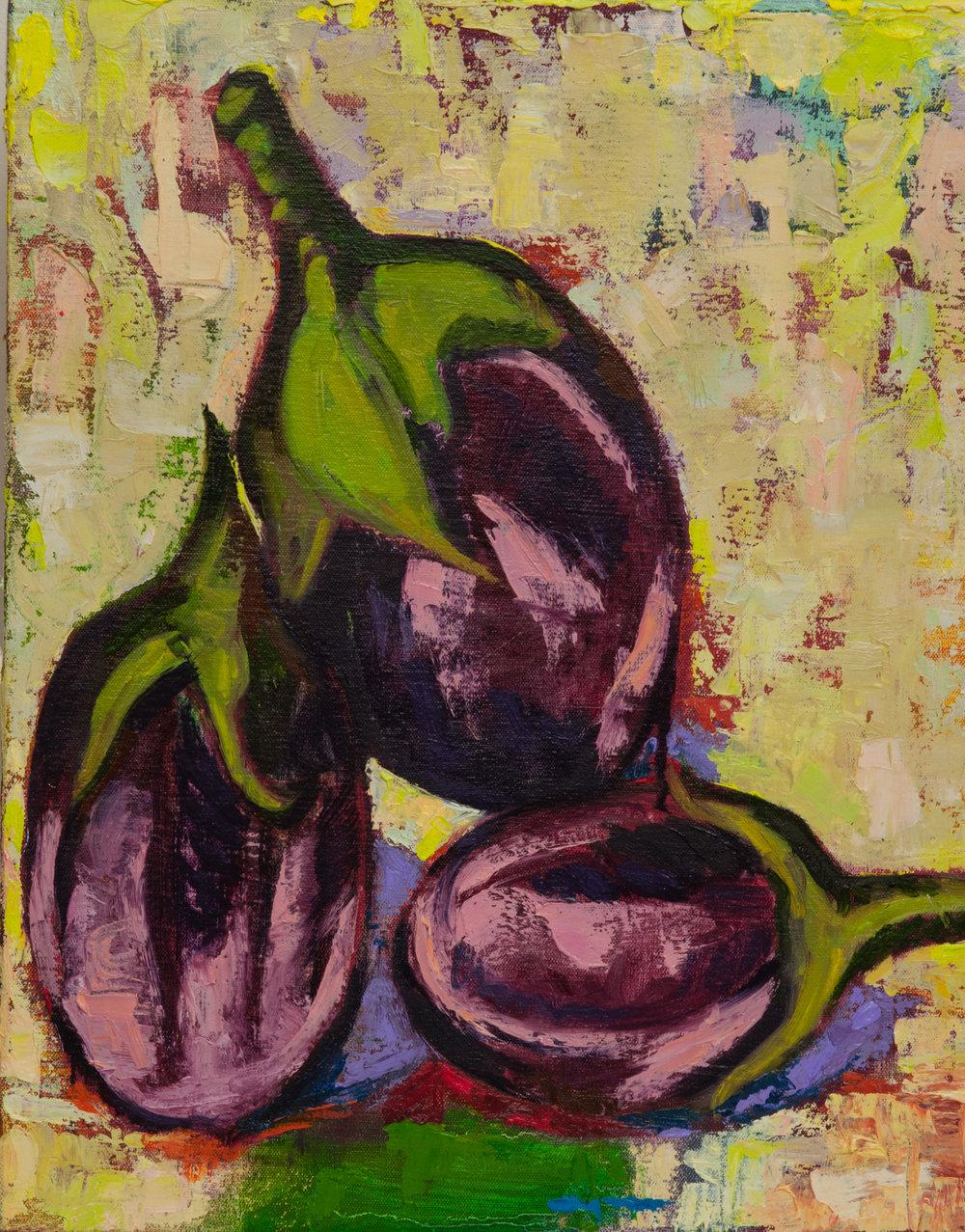 3 Small Eggplants