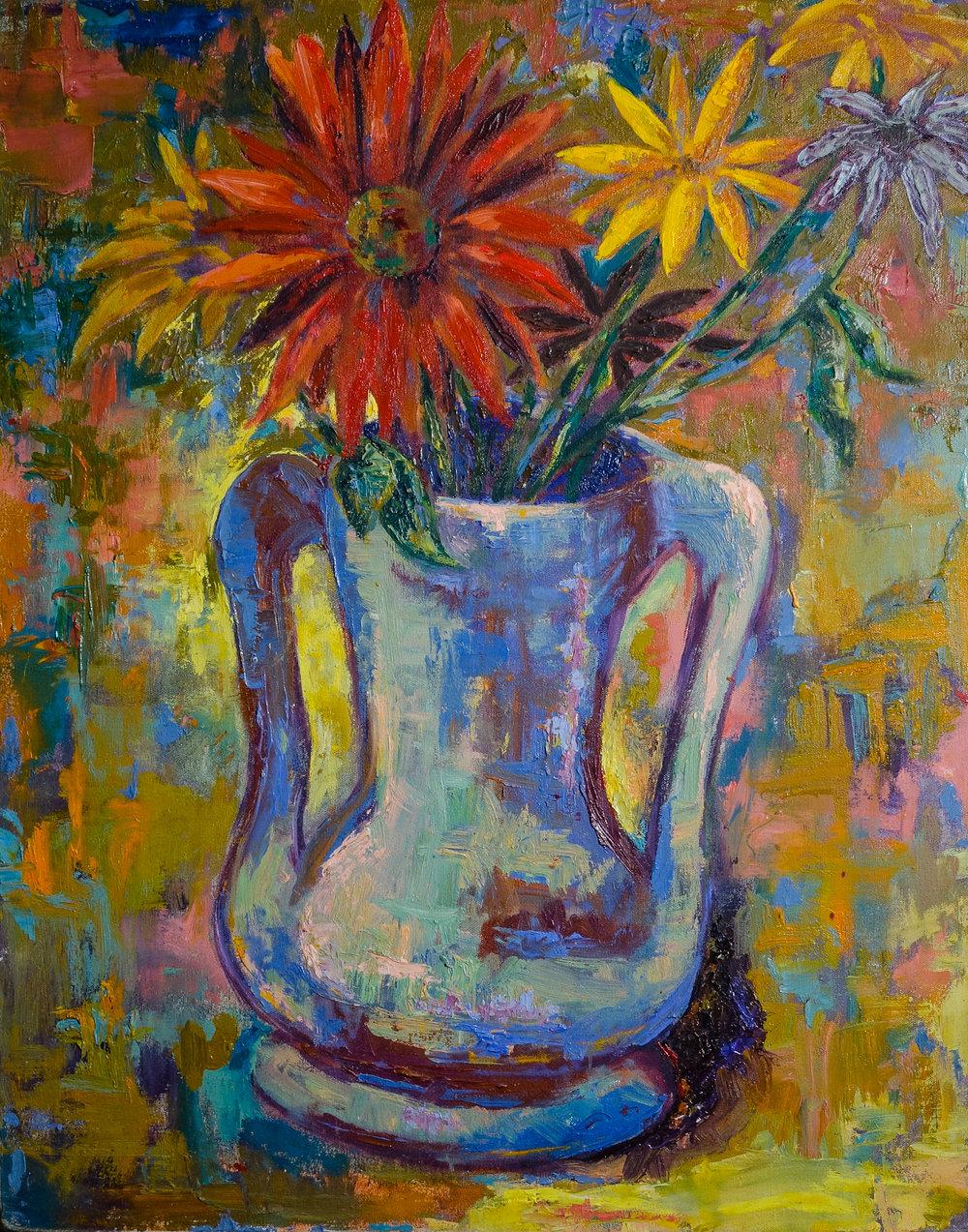 Still Life with 2 Handled Vase