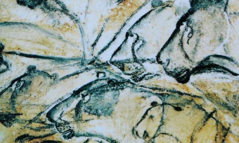 Homo sapiens' drawing ability may relate to hunting techniques     https://phys.org/news/2018-02-homo-sapiens-ability-techniques.html   .Neanderthals had large brains and made complex tools but never demonstrated the ability to draw recognizable images, unlike early modern humans who created vivid renderings of animals and other figures on rocks and cave walls. That artistic gap may be due to differences in the way they hunted, suggests a University of California, Davis, expert on predator-prey relations and their impacts on the evolution of behavior....   Read more