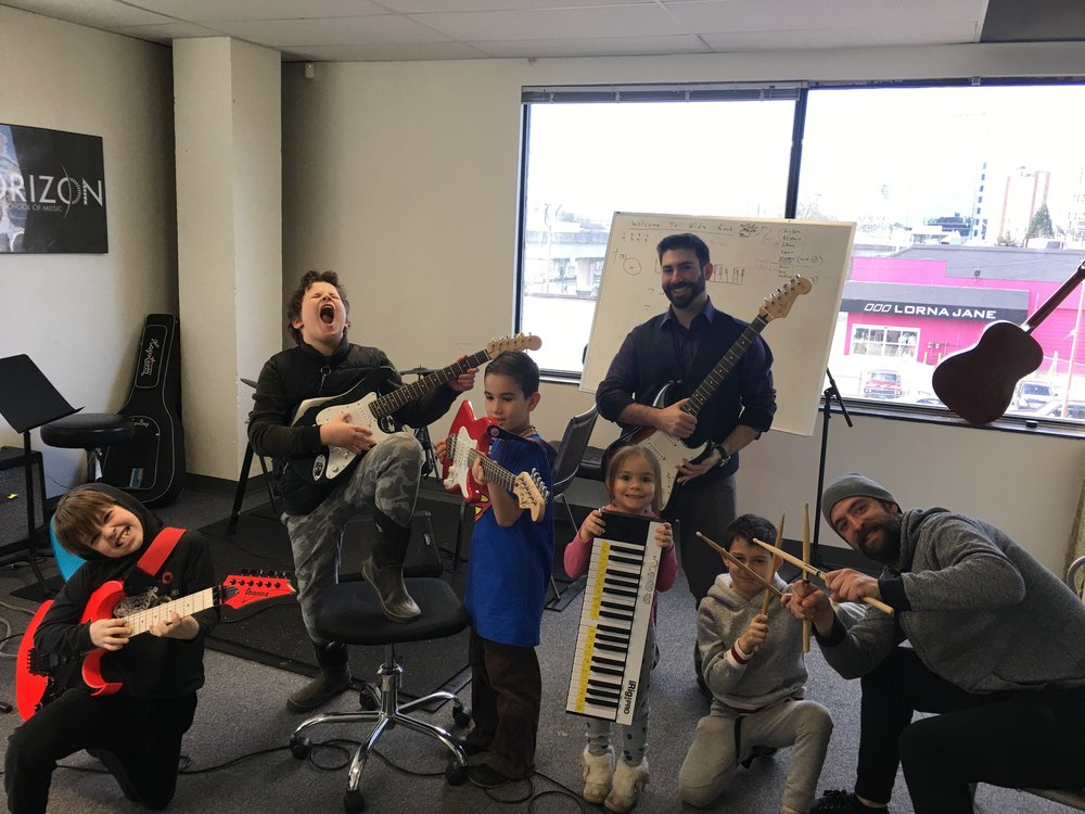 The Kids Rock is a fun an interactive way for younger musicians to explore various instruments while developing team building skills.
