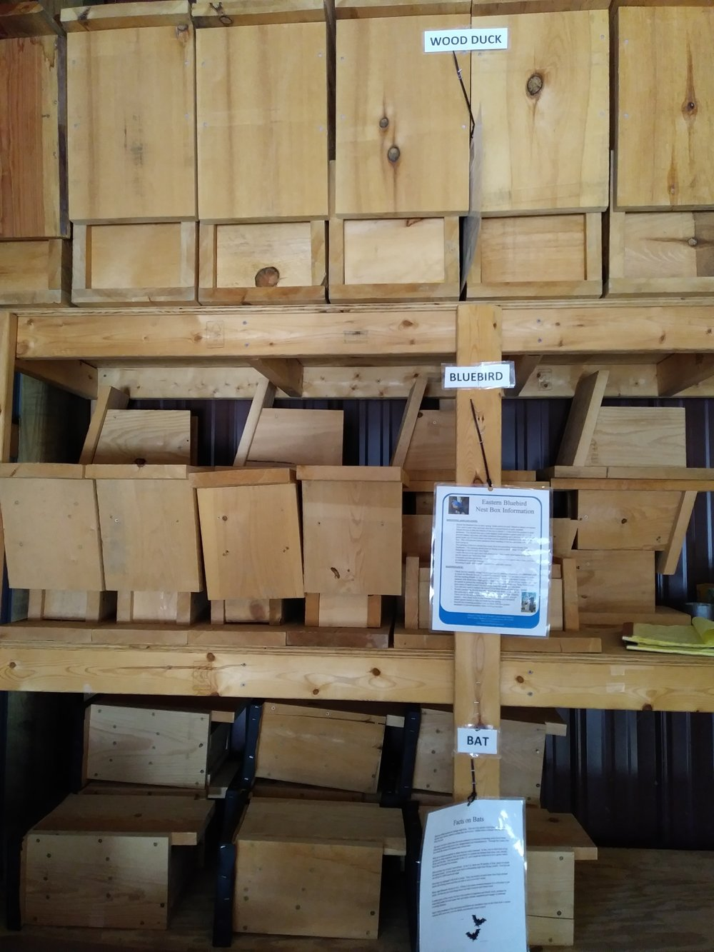 Bird & Bat Boxes Storage