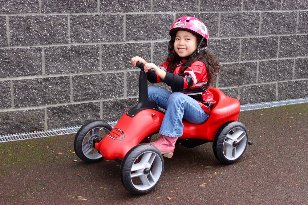 "PUMPER CAR JUNIOR • $349      FOR AGES 3 to 5 & HEIGHTS 28"" - 44"""