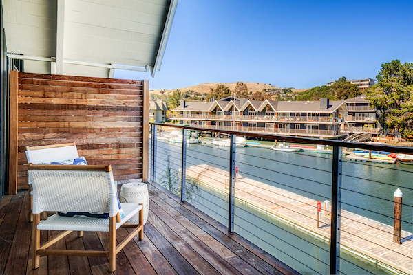 All of The Cove at Tiburon waterfront apartment homes include a private patio or balcony; marina or San Francisco bay views available.