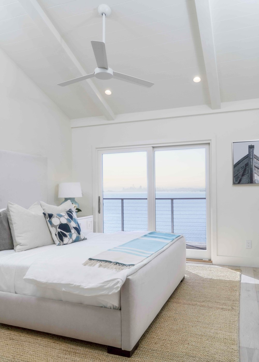 The Pointe at Cove luxury apartments offer water views and private balconies from the master bedroom, as well as spacious walk-in closets.