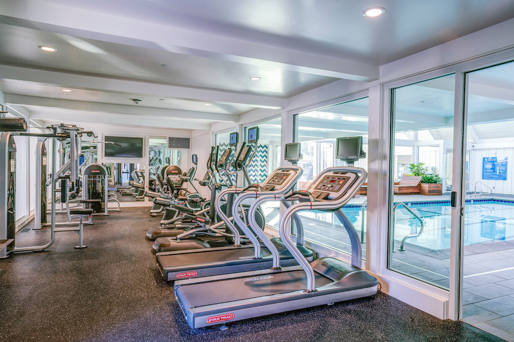 The Cove at Tiburon fitness center includes top og the line fitness equipment