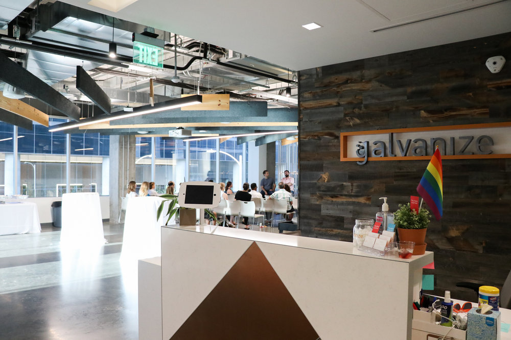 The space at Galvanize in downtown Austin