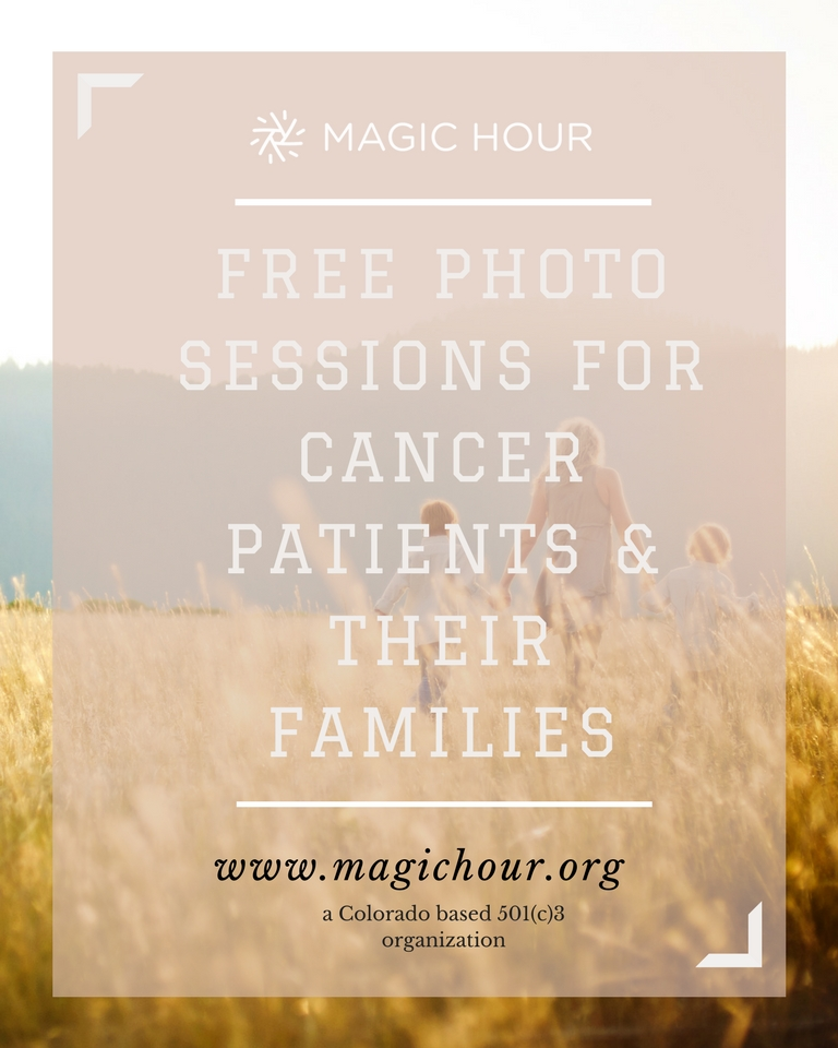 - If you have cancer or are in remission, you can apply to receive a free photo session! I'm so proud to be part of this amazing charity and can't wait to help families in need.