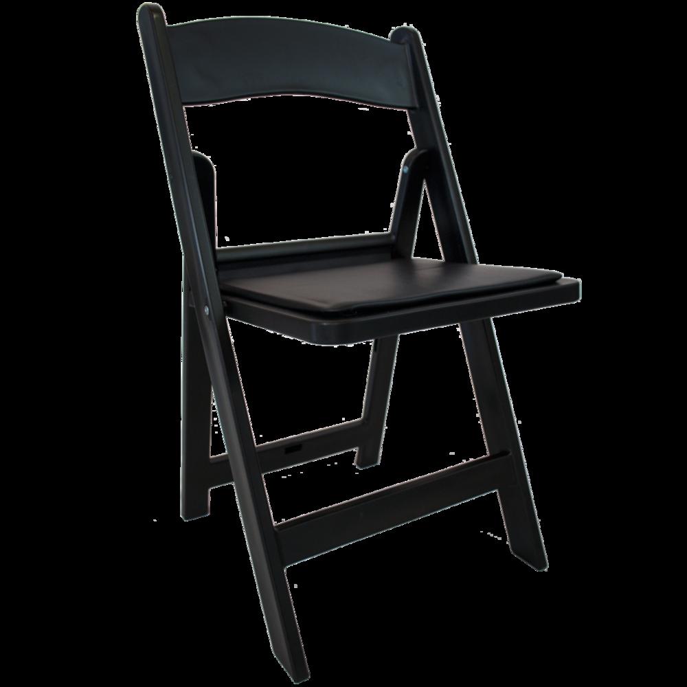 Padded Folding Chair - Black