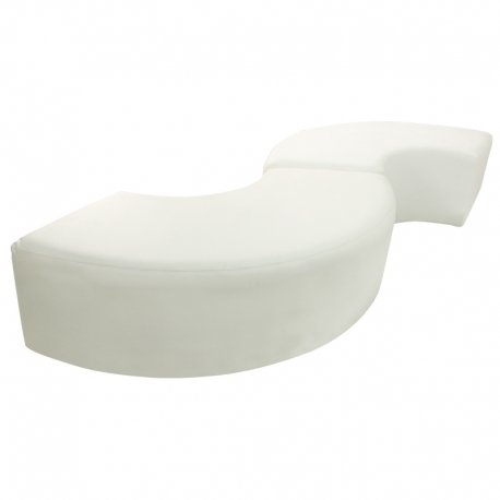 White Serpentine Bench