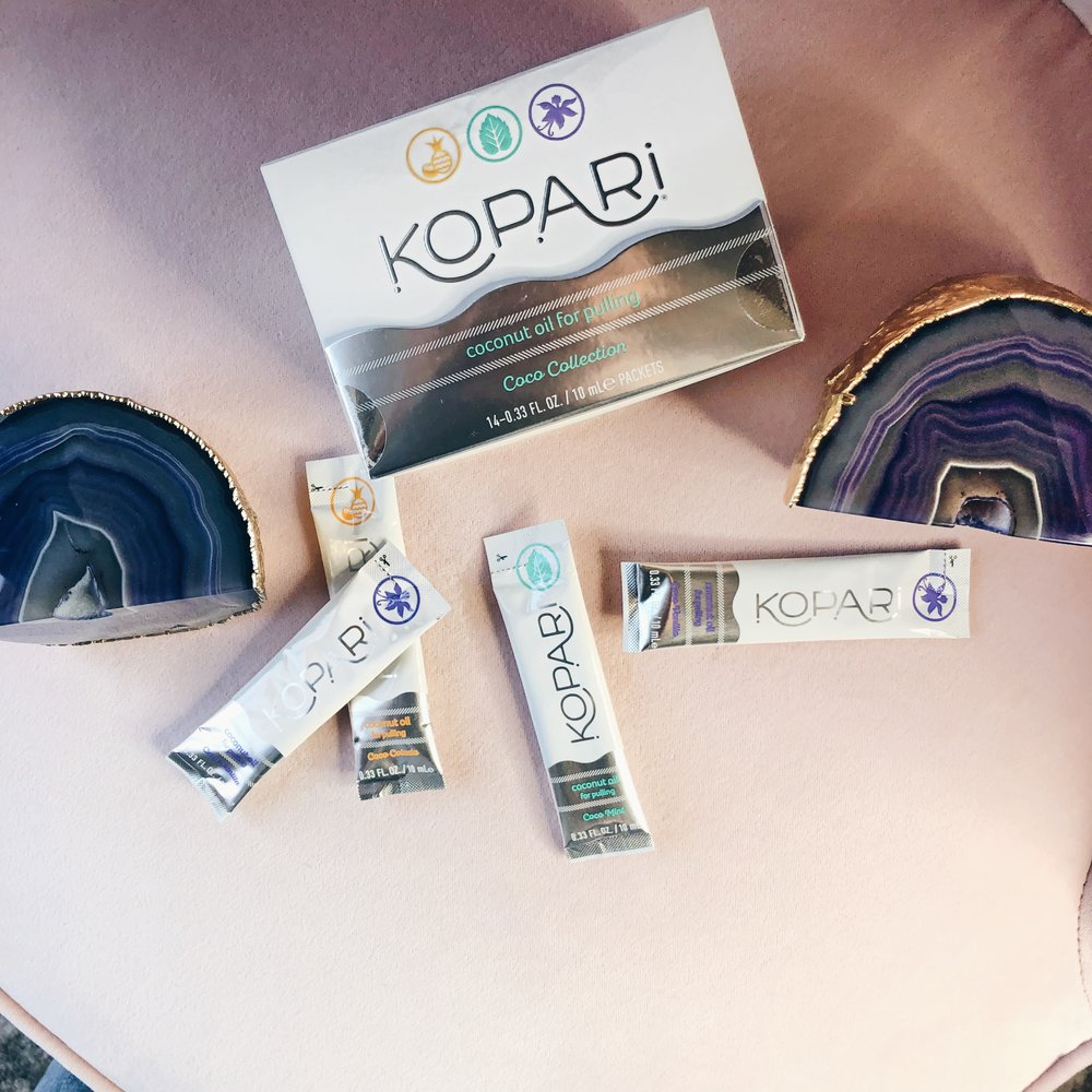 I love how easy and convenient and not too mention delish, these Kopari oil pulling packets are!