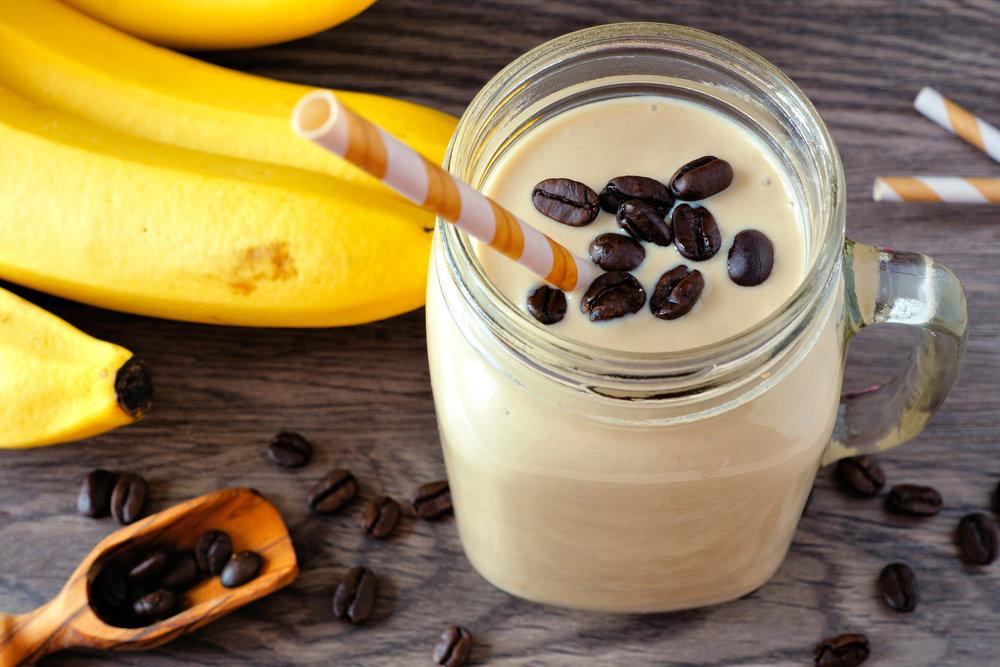Smoothie pre-workout café banane