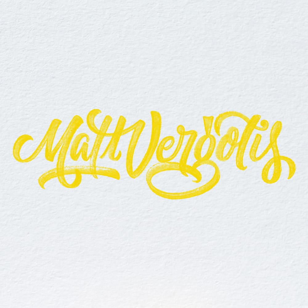 Interview: Matt Vergotis - Crayligraphy For Lefties With Matt VergotisINTERVIEWS • LEFTIESGet Cray!