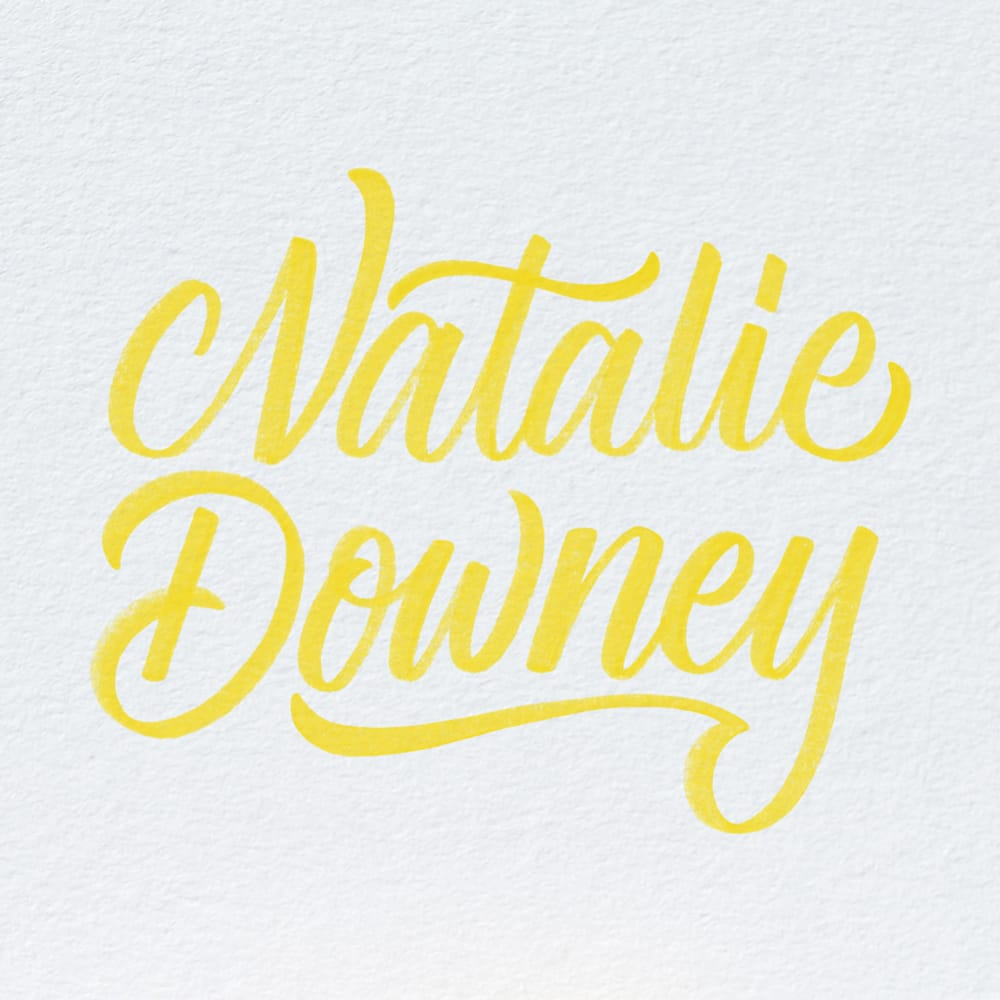 Interview: Natalie Downey - Crayligraphy With Natalie Downey