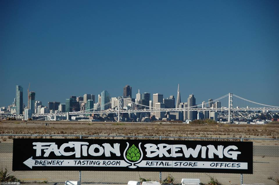 Faction Brewing - What once was a Marine Corps helicopter hangar on the old Alameda Naval Base, is now a 25,000 square foot brewery serving 20+ original brews alongside sweeping views of the SF skyline and Bay Bridge. Featuring local favorites like the A-Town Pale (which is only available in Alameda), alongside murals painted by local artists, the family-run Faction Brewing is a proud reflection of Alameda's past and present.2501 Monarch St., Alamedafactionbrewing.com