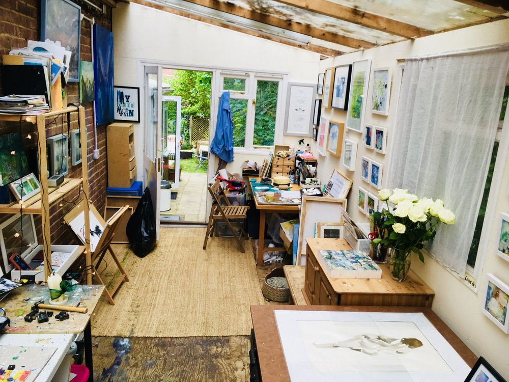 My studio on the river. - My art studio is surrounded by water and river life.