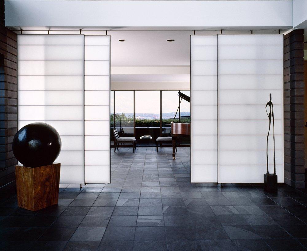 Sliding Shoji screen doors. Fabricated in 2005.