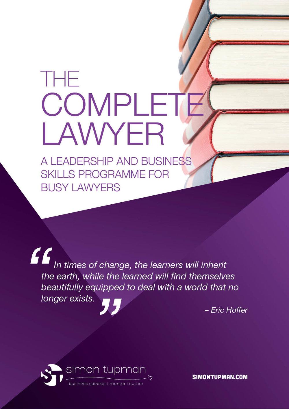 Simon Tupman The complete Lawyer thumb.jpg