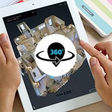 Visites virtuelles en 3D (qualité 4K) Cartographie et plan d'étage en 3D