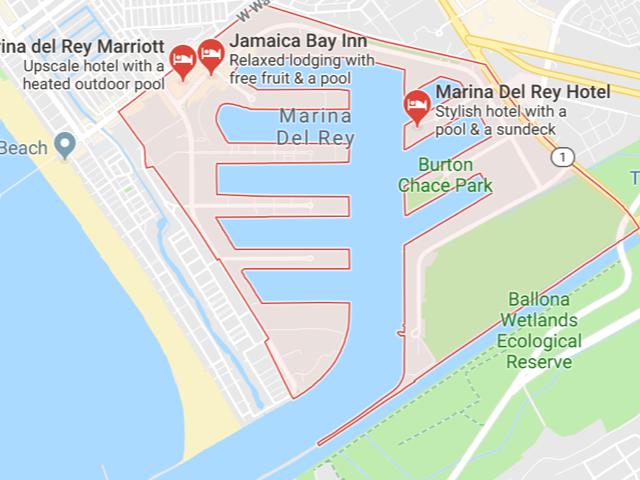 Marina Del Rey  Superficie: 3.768 km2 Démographie: 8,866 habitants Prix moyen par Sq.Ft (1m2 = 10.76 Sq.Ft): -Maison Single Family: Q1 2018: $867 (Q1 2017: $812) -Condo: Q1 2018: $769 (Q1 2017: $672)