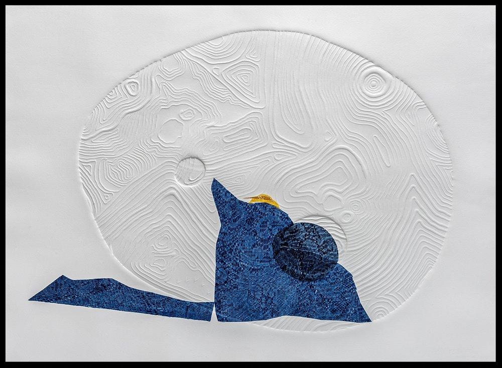 "Aerial Map, Iceberg Study, 15 x 22"""