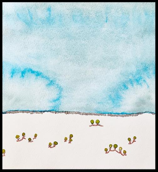 """Arctic Tundra, 7 x 6 1/2"""", FRAMED $375"""