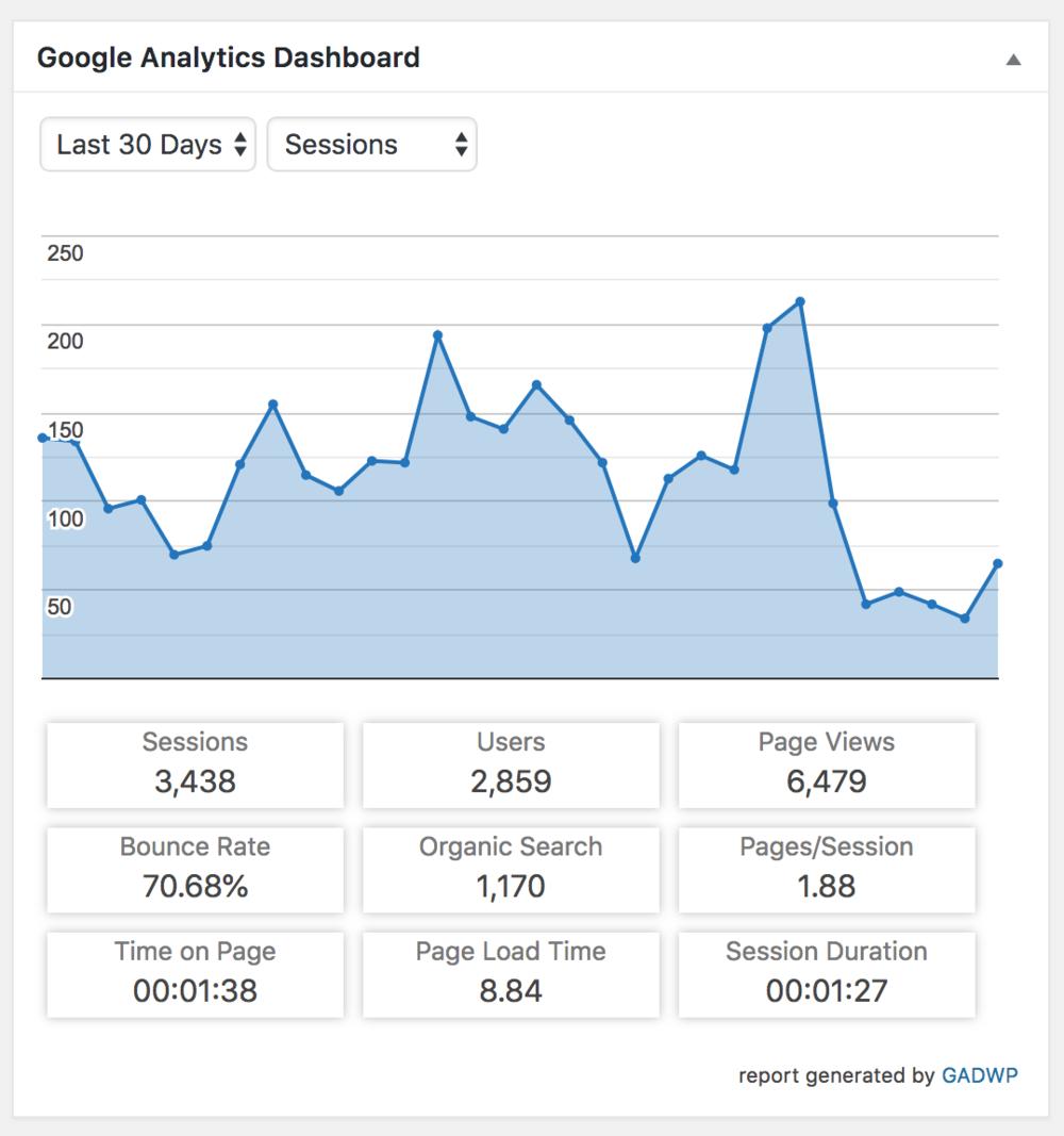 Wordpress Website Analytics