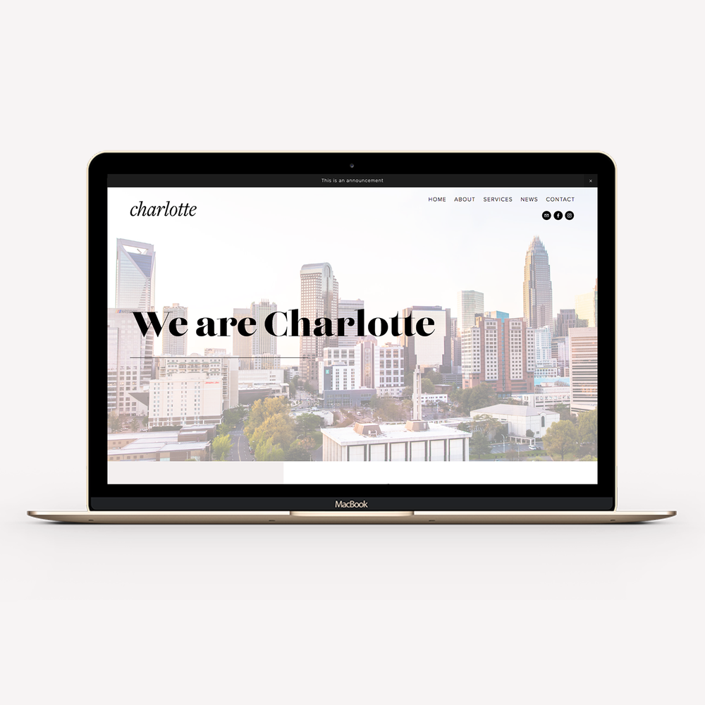 STARTER EXPERIENCE - Choose from our pre-designed Squarespace site layouts and launch in one week.