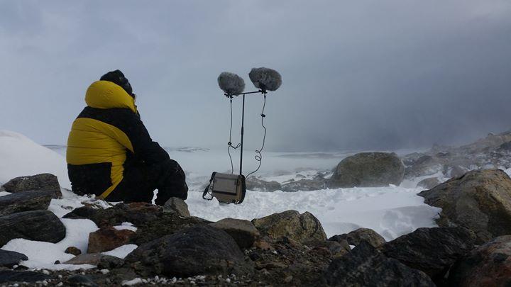 Image: Philip Samartzis, Blizzard at Jack's Hut, Eastern Antarctica (2016), Photo captured by  Daniel Wilkins