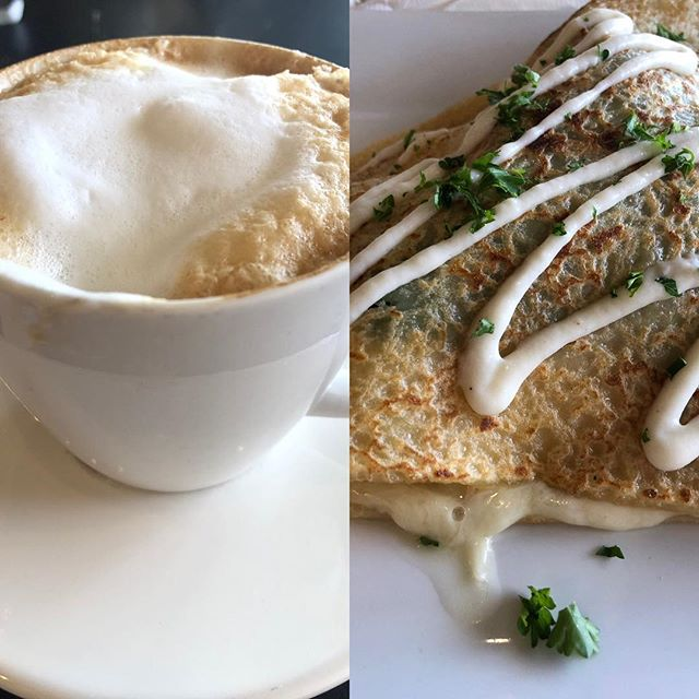 "Lunch today at @lecafecreperie in Haddonfield. It was Elliot's first experience with #french #food, and he says he ""loves"" it. 🇫🇷 #southjerseyfoodie #southjersey #food #foodie #foodstagram #foodblog #foodblogger #lunch #foodgasm #haddonfieldnj #hungry #nomnom #bonappetit"
