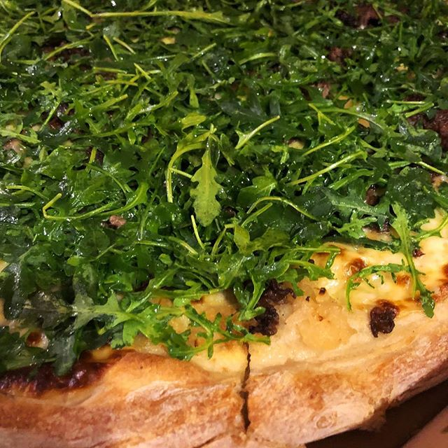 "Last night's #dinner from @tigasartisanpizzeria in Medford. Everything we've ever ordered from Tiga's has been fabulous, and this ""Philly"" #pizza with cheesesteak and arugula was no exception. #delicious #latergram #bonappetit #foodgasm #foodblogger #foodporn #philly #southjersey #southjerseyfoodie #food #foodie #foodblog #yummy #nomnom #love #supportnjlocal #eating #restaurants #diningout"
