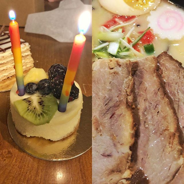 #latergram from my birthday #dinner 🎂 Wednesday night. We tried @rayakinj for the first time. I loved their chahsu pork bao (buns), and the #ramen was great too. Oh, and they have heated toilet seats in the bathrooms! 😂 Then we got #dessert from @mielpatisserie - my favorite. #southjersey #southjerseyfoodie #japanesefood #food #foodie #french #nj #newjersey #foodblogger