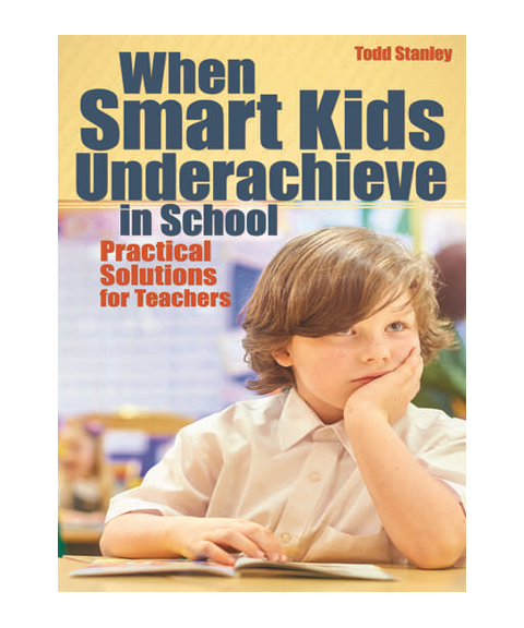 When Smart Kids Underachieve in School - When Smart Kids Underachieve in School: Practical Solutions for Teachers takes a look at the 10 most common reasons why some smart, advanced, and gifted students do not reach their achievement potential. Reasons for underachievement range from social-emotional needs, lack of proper programming, not being challenged, and potential learning disabilities. Each chapter discusses a different cause and three practical strategies that can be used to overcome it. Useful for teachers, counselors, gifted coordinators, and administrators, this book is an easy-to-read, must-have resource for any educator looking to identify, understand, and reverse underachievement.