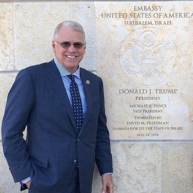 Boarding the flight home from Israel.  I reflect on the prophetic significance of Jerusalem being recognized as the Capital. The seal of the USA on the front wall of our newly dedicated Embassy assures that our nation will be blessed.    Genesis 12:3