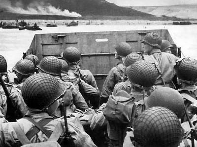 """Today we remember the greatest generation and the sacrifices they made on the beaches of Normandy on June 6, 1944. """"Men, I am going to ask you to pray with me for the success of the mission before us. And while we pray, let us get on our knees and not look down but up with faces raised to the sky so that we can see God and ask his blessing in what we are about to do. God almighty, in a few short hours we will be in battle with the enemy. We do not join battle afraid. We do not ask favors or indulgence but ask that, if You will, use us as Your instrument for the right and an aid in returning peace to the world. We do not know or seek what our fate will be. We ask only this, that if die we must, that we die as men would die, without complaining, without pleading and safe in the feeling that we have done our best for what we believed was right. Oh Lord, protect our loved ones and be near us in the fire ahead and with us now as we pray to you."""" -Lt. Col. Robert Wolverton, commanding officer of 3rd battalion, 506th PIR."""