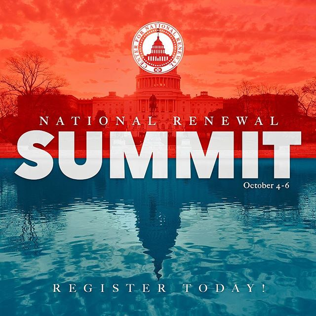 JOIN US this Oct. 4-6 for our National Renewal Summit, a gathering of business, civic, and ministry leaders and influencers in our nation's capital. The Summit includes visits to some of the most prominent sites D.C. has to offer with a focus on the renewal of our nation. It will be the perfect mix of learning, connecting, fun, and inspiration to propel you and your business, ministry, or organization to a new level of effectiveness. • REGISTRATION for the Summit is OPEN NOW through the link in our bio and at cfnr.org. • TUNE IN tomorrow as we take a look at the sites you will experience on the first day of the National Renewal Summit Thursday, Oct. 4! #natrenew