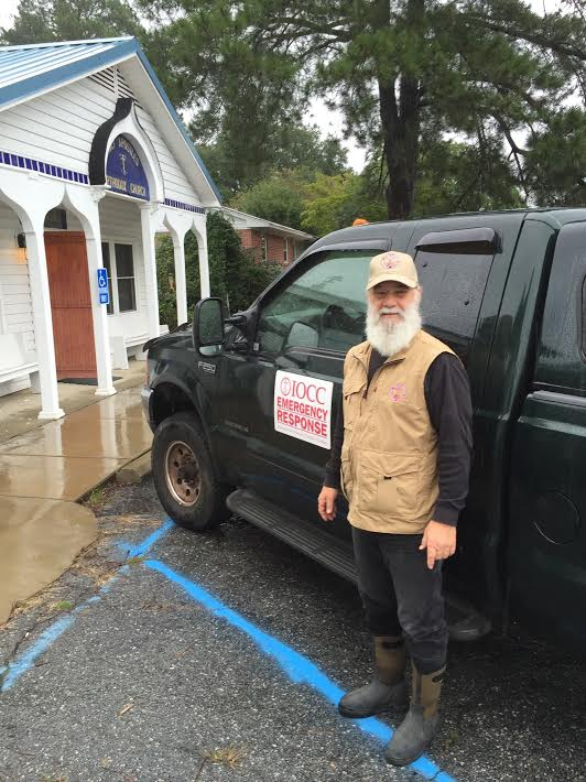 Fr. Thomas Moore ready to assist in the Columbia, SC flood