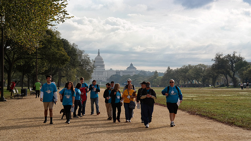 Monumental Missions Walk fund-raising event in Washington, DC.