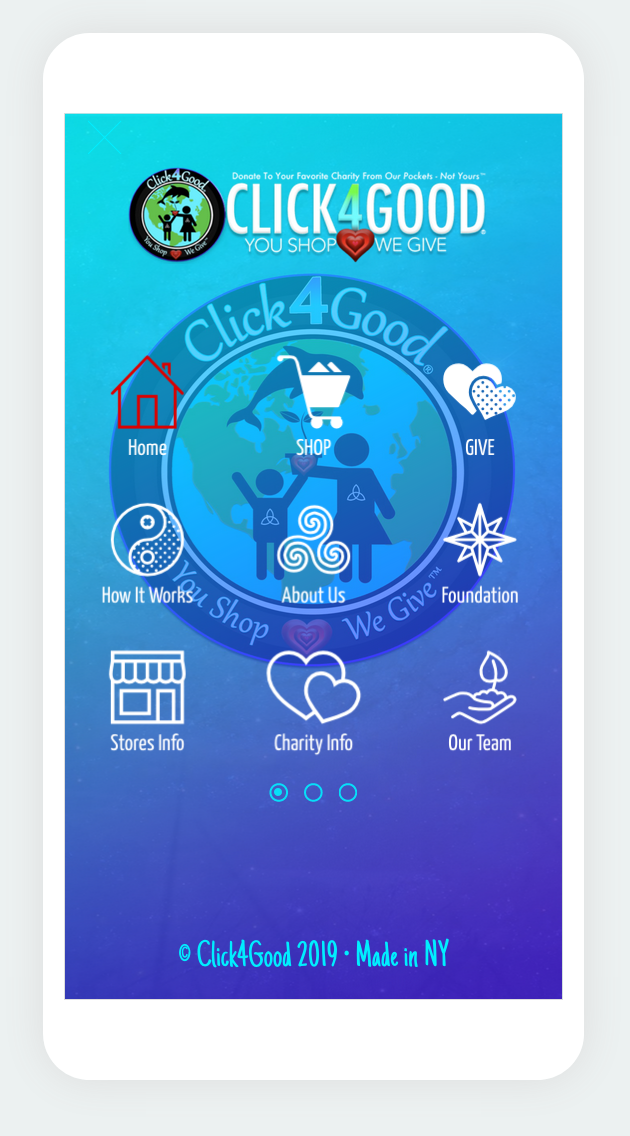 Depiction of    Click4Good App    Download To Shop And Help    #DoGood    Today!