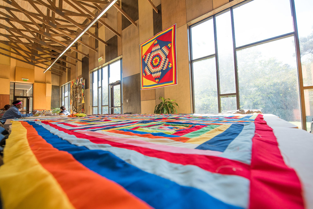 The beauty of quilts and small town economic initiative!